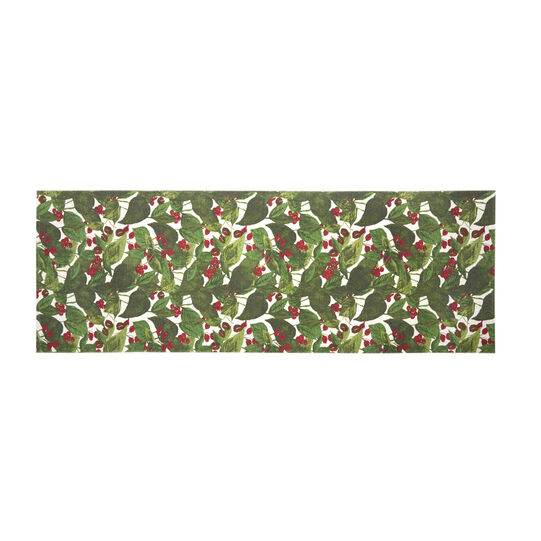 Kitchen mat in cotton with coffee plant print