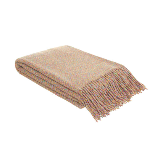 Plaid misto lana con frange