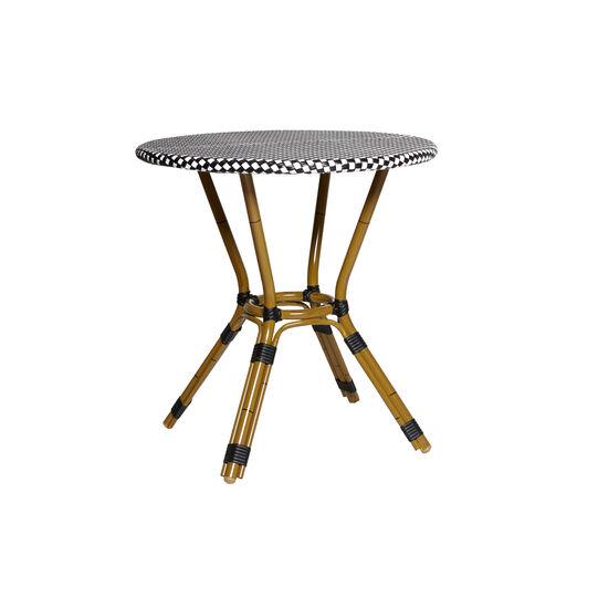Tavolino polyrattan intrecciato e alluminio Cayolargo