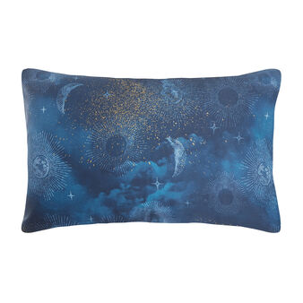 Sun and moon patterned pillowcase in cotton satin