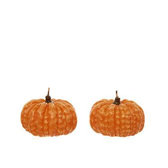 Set of 2 pumpkin candles