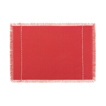 100% cotton table mat with fringing