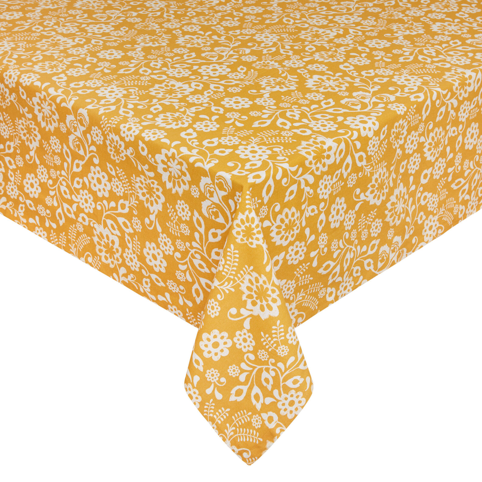 100% cotton water-repellent tablecloth with sunflowers print