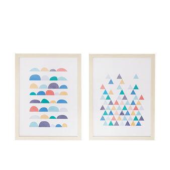 Geometric-themed photographic print.