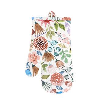 Guanto da cucina twill di cotone stampa fiori