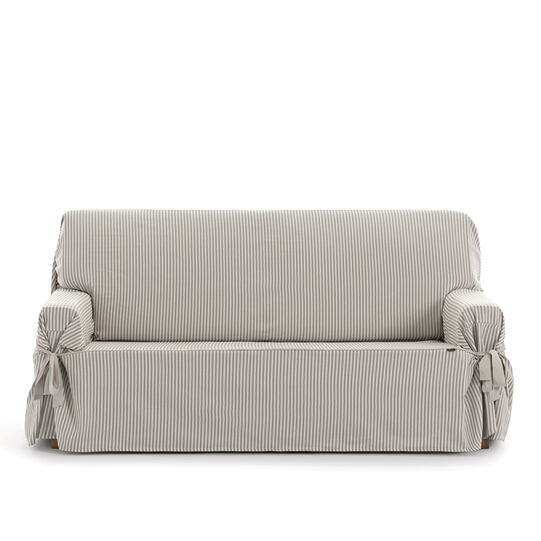 2-Seater sofa cover with striped fabric