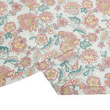Organic cotton duvet cover with flower pattern