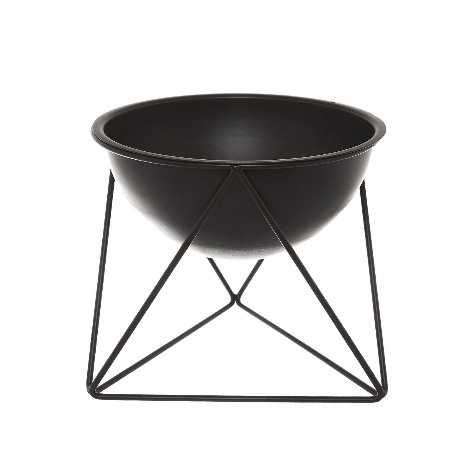 Metal bowl with stand