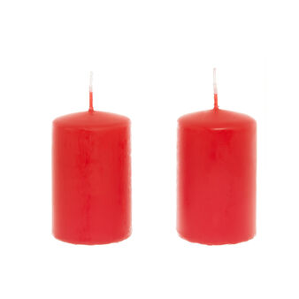 Set of 2 small cylindrical candles made in Italy
