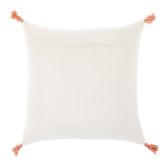 Cuscino ricami e nappine 45x45cm