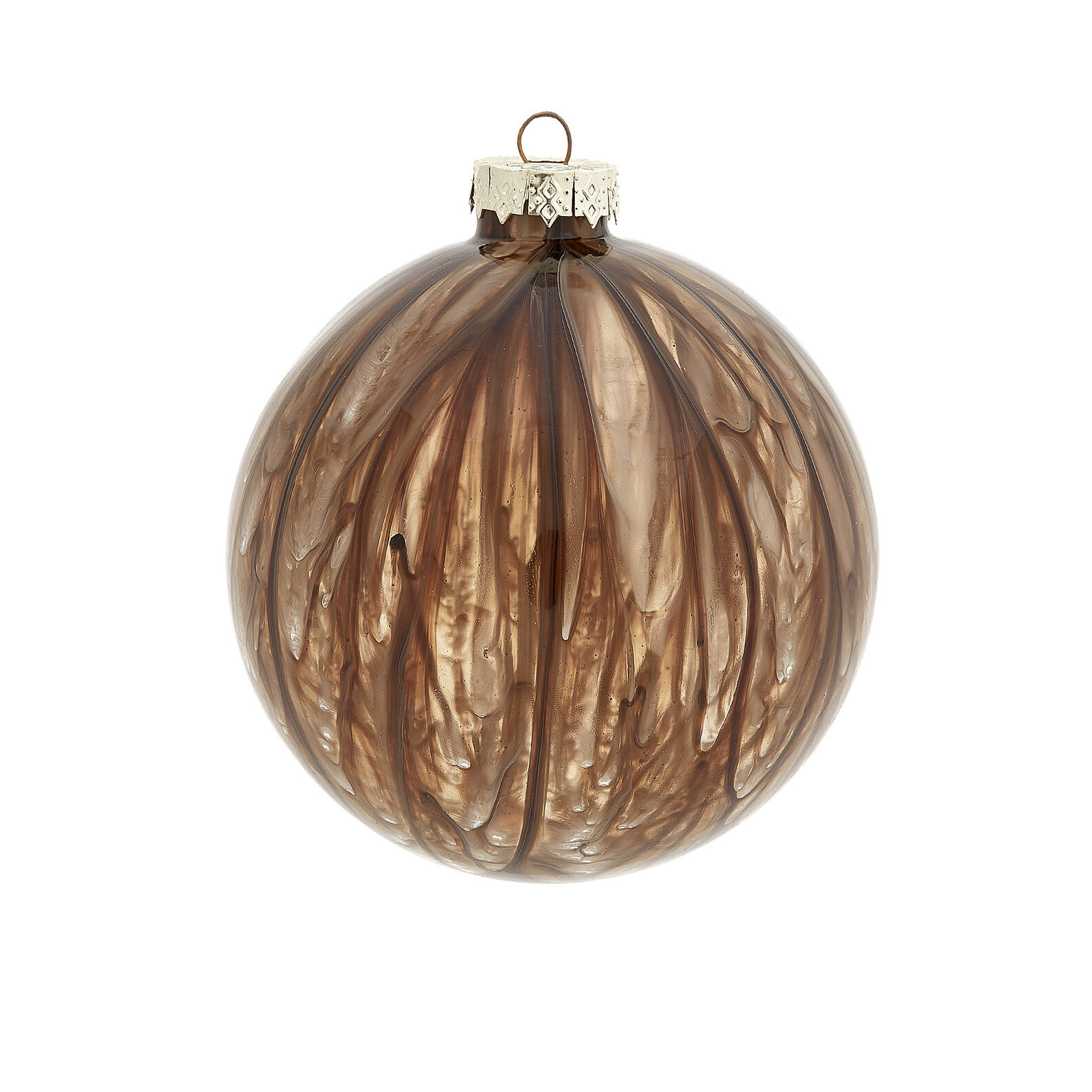Hand-decorated bauble with brush strokes