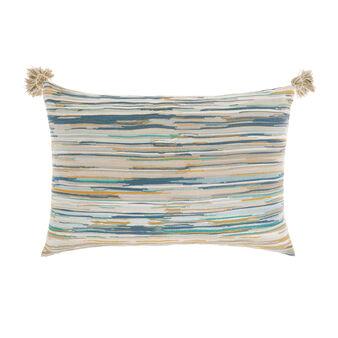 Striped jacquard weave cushion 35x55cm.