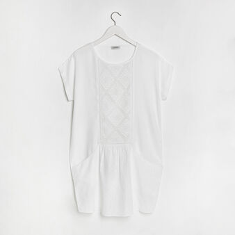 Viscose embroidered cover-up