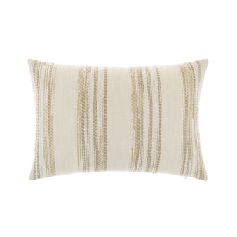 Soft striped jacquard cushion