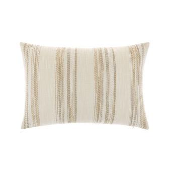 Soft striped jacquard cushion