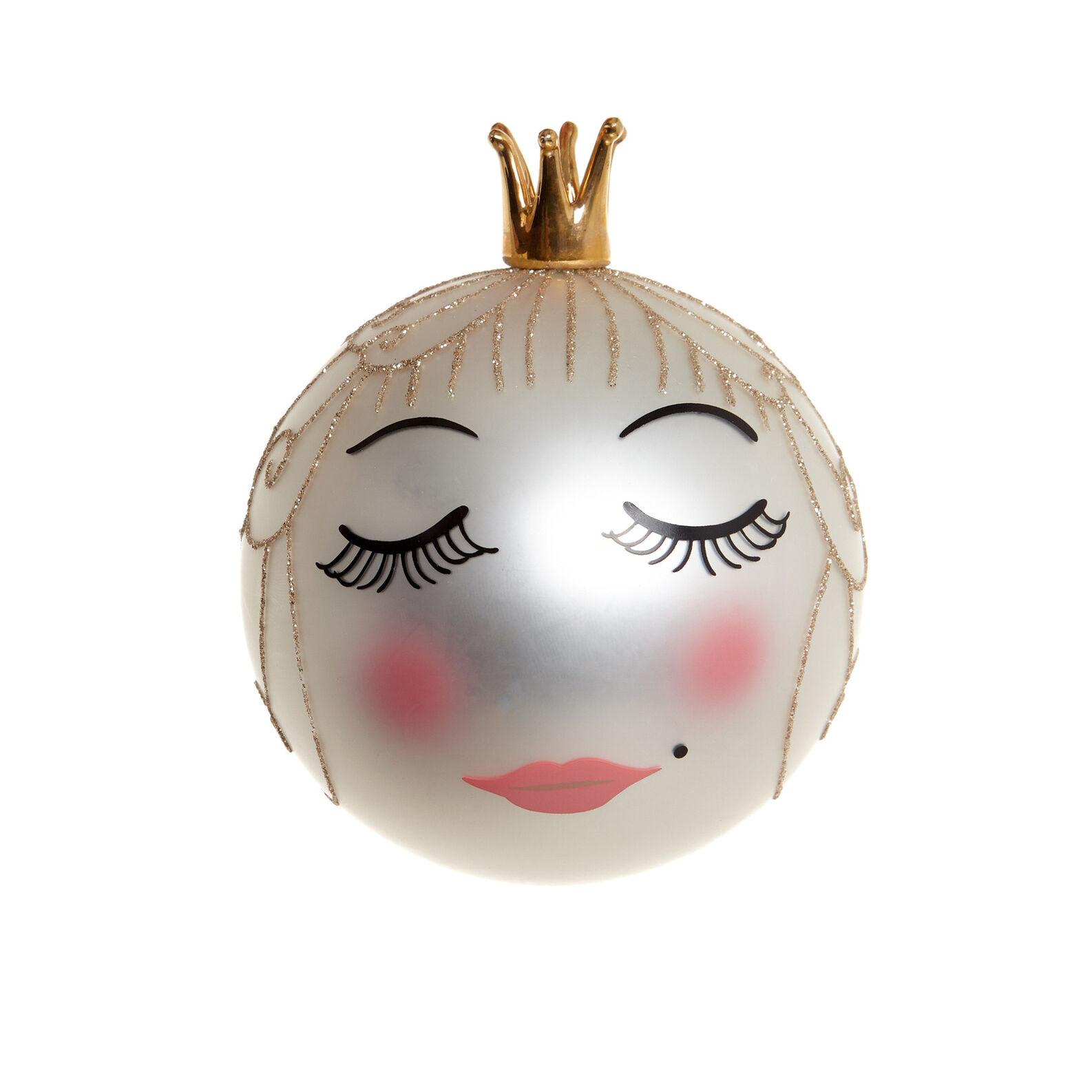 Hand-decorated Queen bauble
