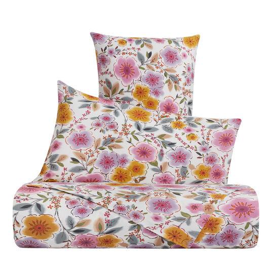 Parure lenzuolo cotone percalle fantasia a fiori