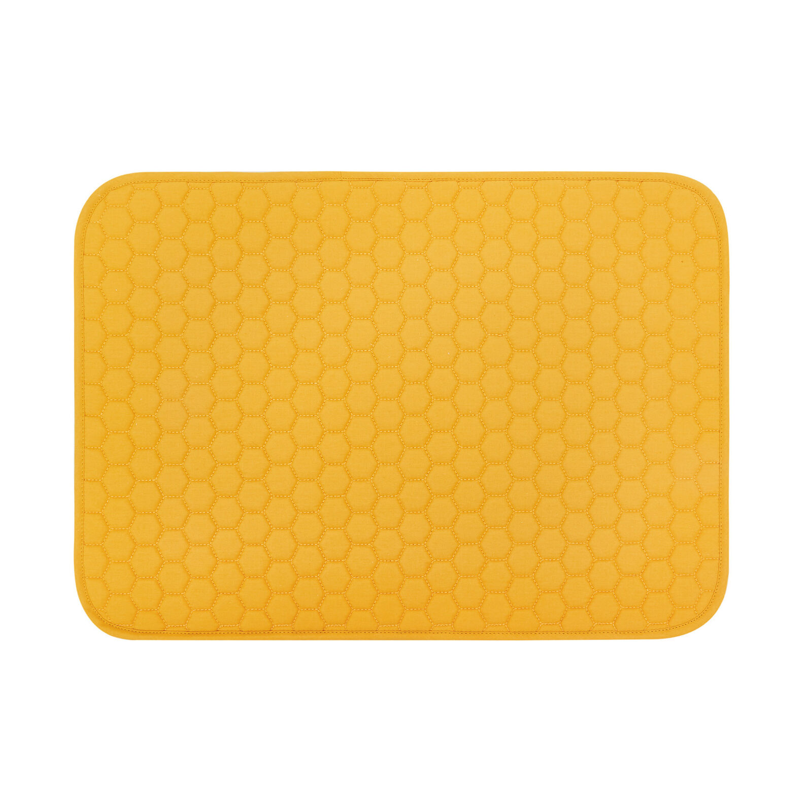 Quilted solid color mat