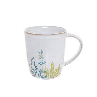 Hand-painted terracotta mug