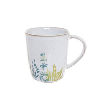 Hand-painted terracotta mug