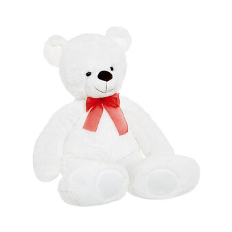 White teddy bear soft toy