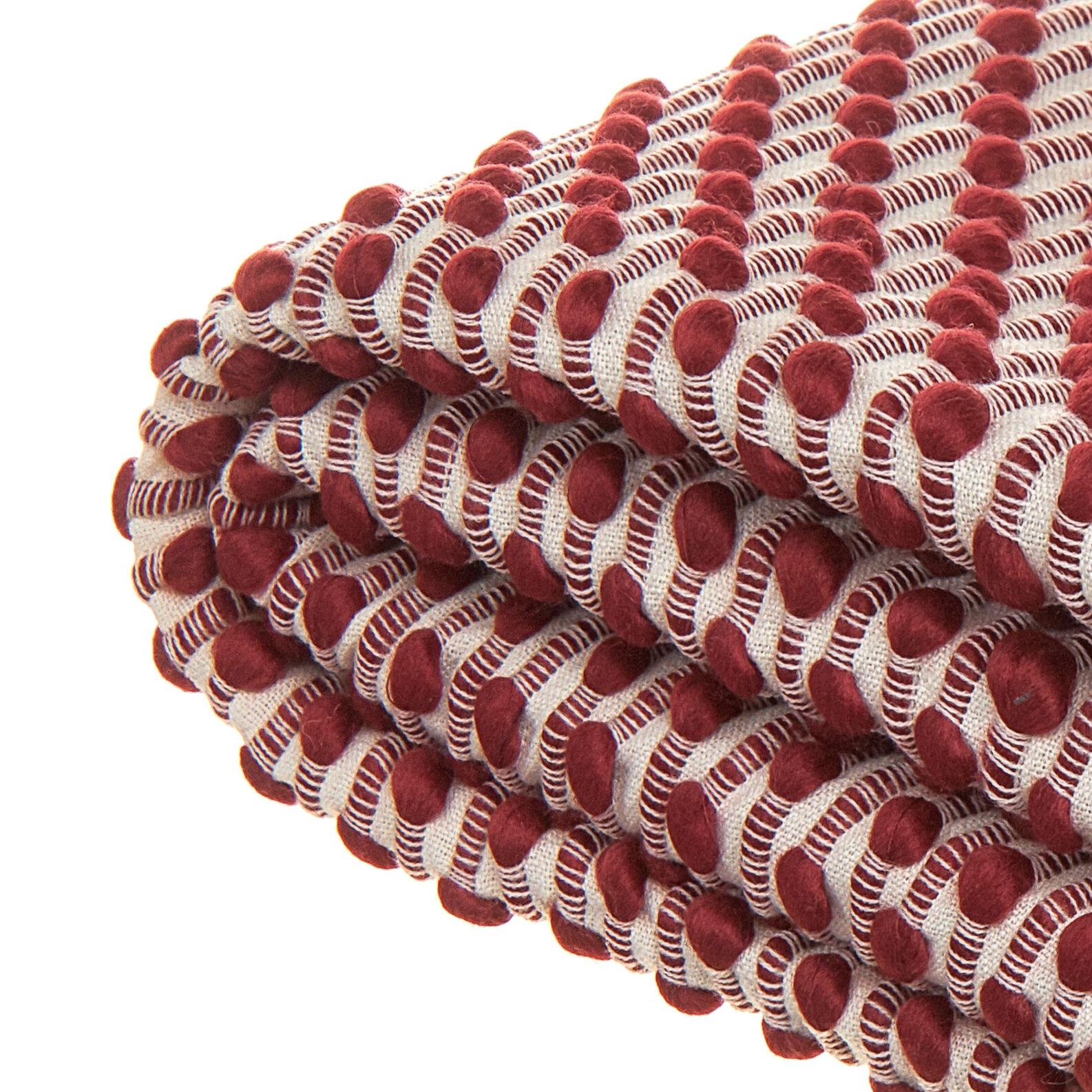 Plaid tricot bicolore con frange