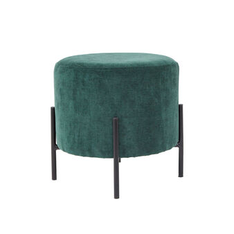 Otto stool in fabric and steel