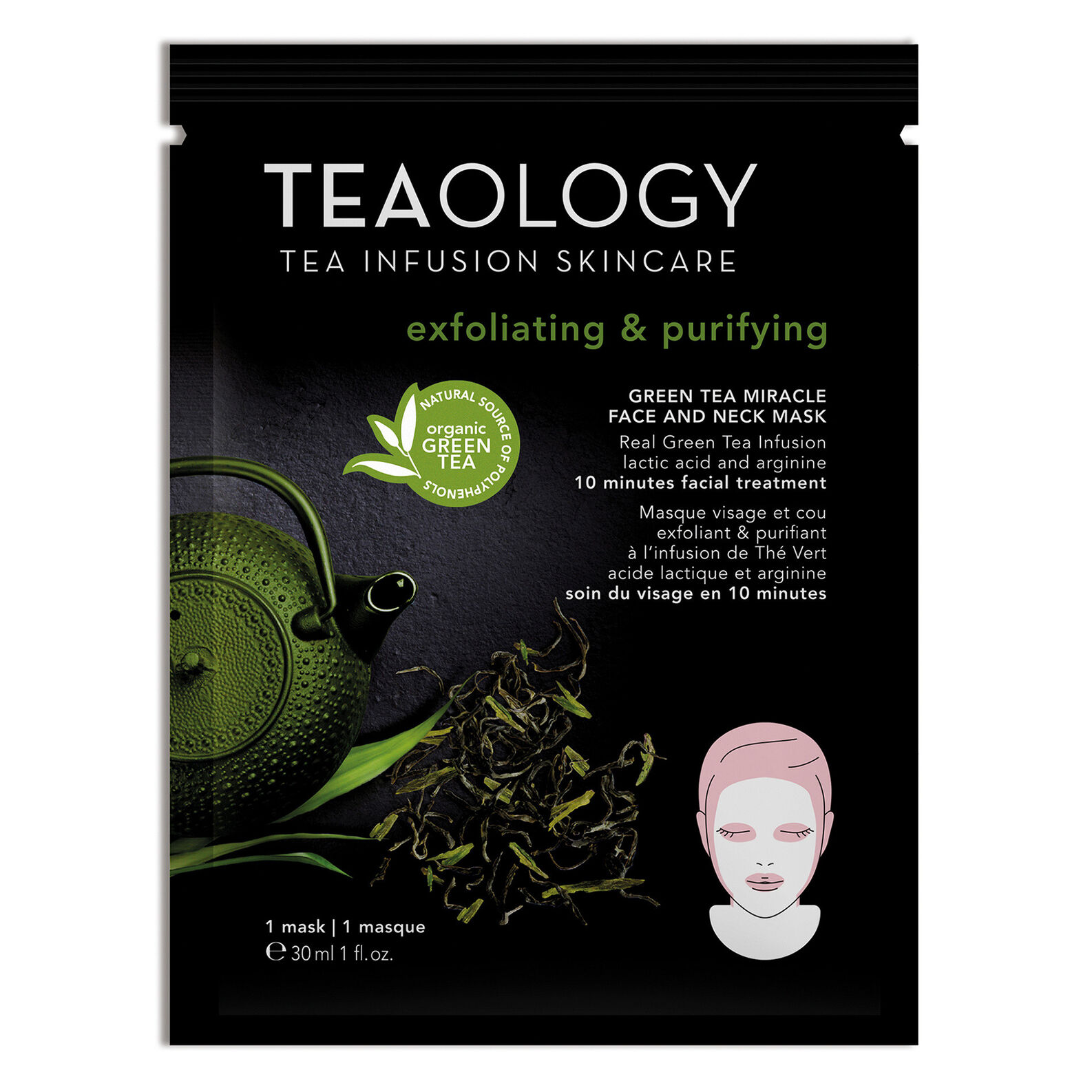 Green Tea Miracle Face and Neck Mask Exfoliating & Purifying 30 ml