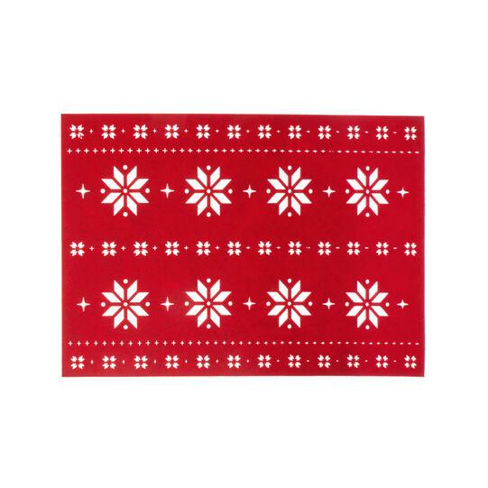 Tovaglietta feltro lavorazione traforata stelle di Natale