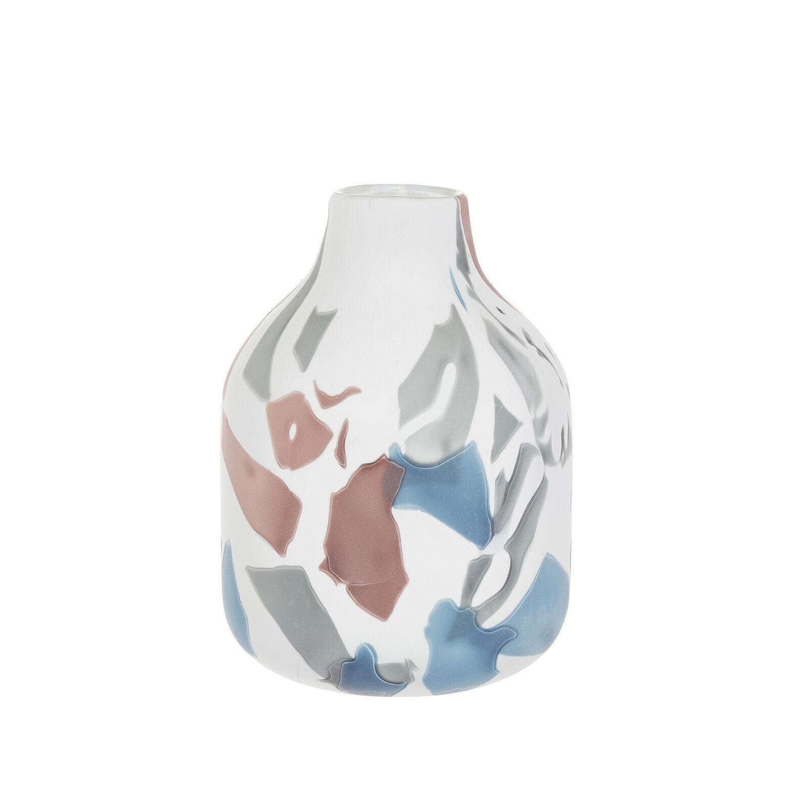 Handmade bottle-shaped vase in coloured glass