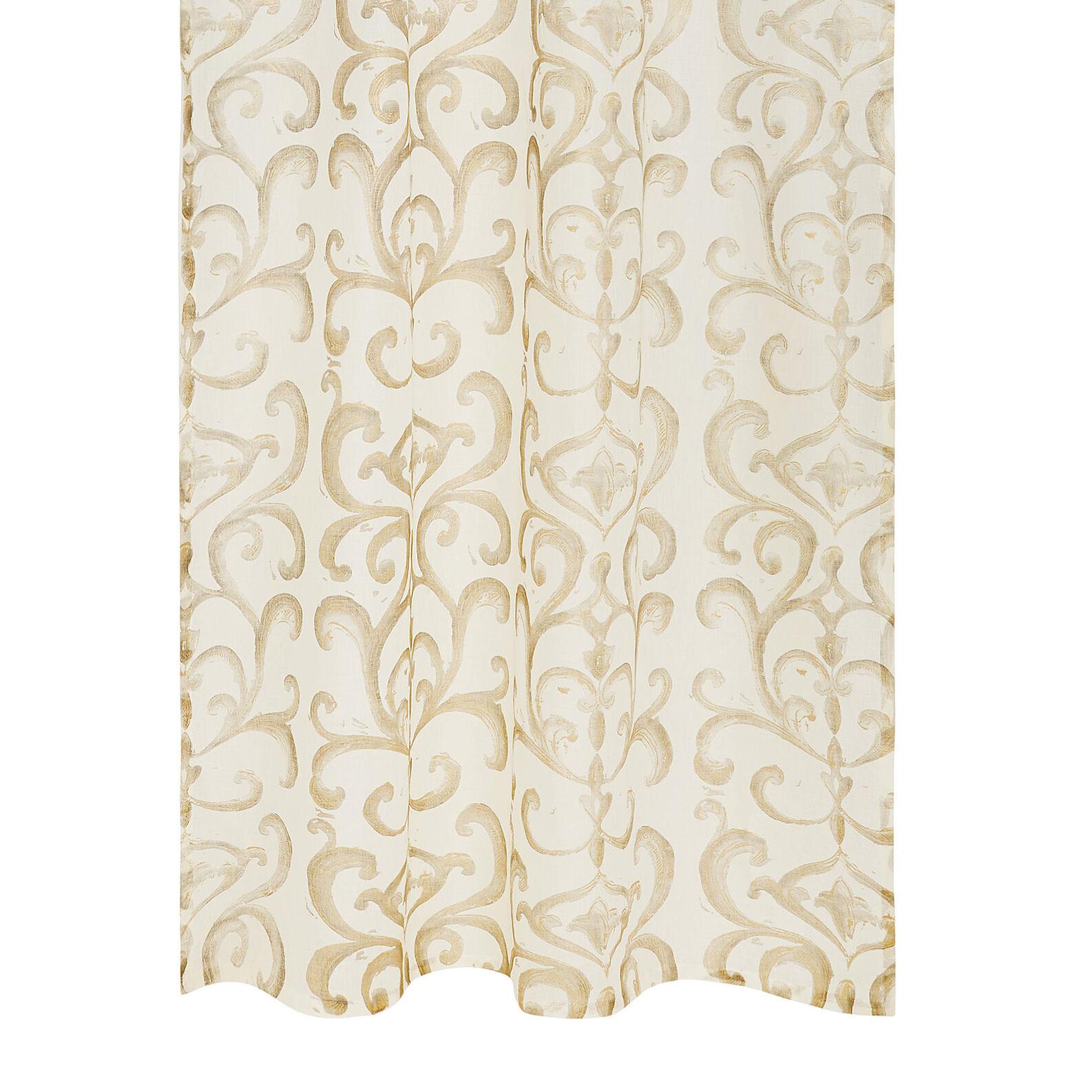 100% linen curtain with devoré print