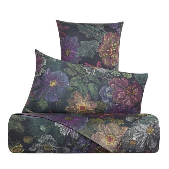 Parure lenzuolo raso di cotone fantasia a fiori