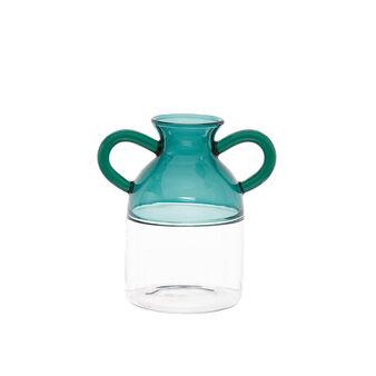 Vaso vetro manici colorati