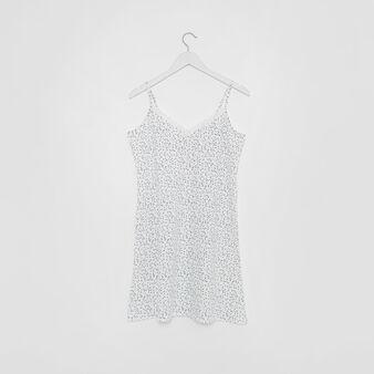 Cotton nightshirt with star print