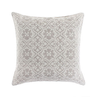 Jacquard cushion with mosaic design