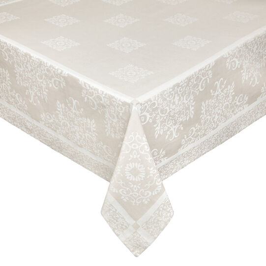 Tablecloth in 100% cotton jacquard
