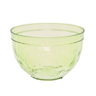Green plastic salad bowl
