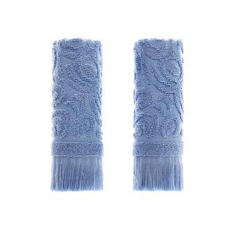 2-pack cotton terry jacquard face cloths