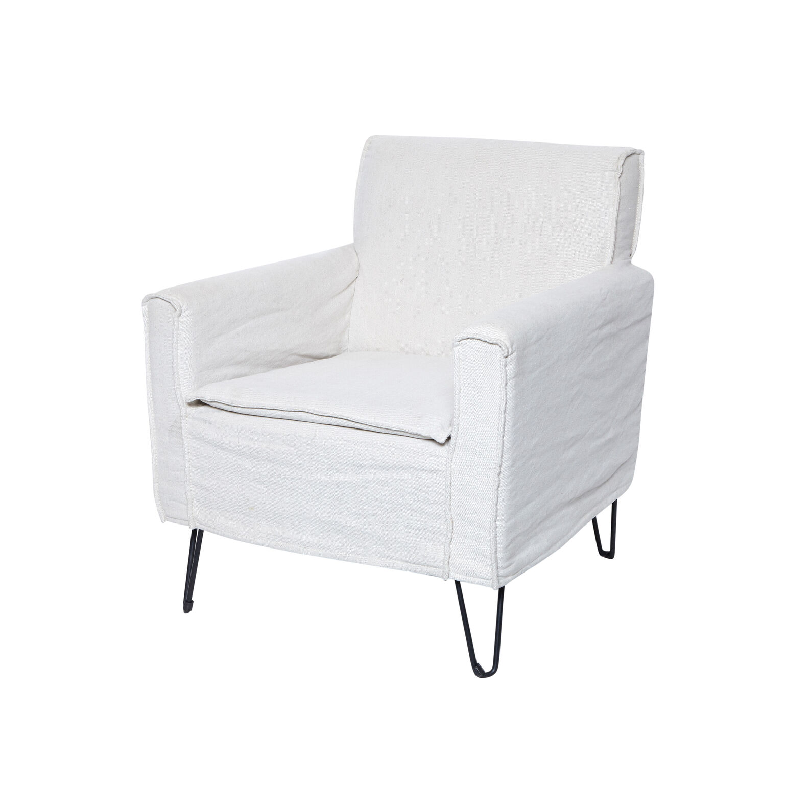 Lina armchair in wood and fabric