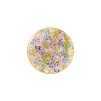 Glass plate with floral motif