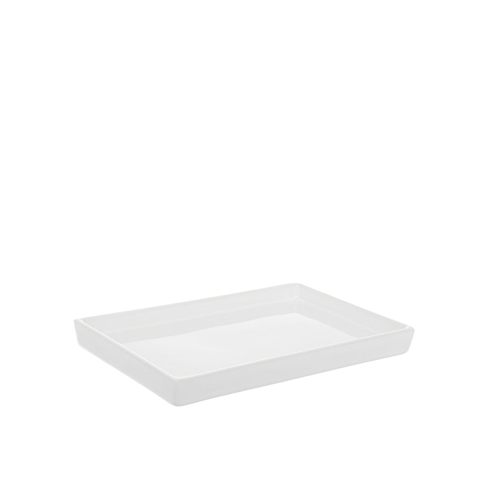 Quadra decorative handmade ceramic tray