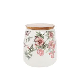 Barattolo in new bone china decoro floreale