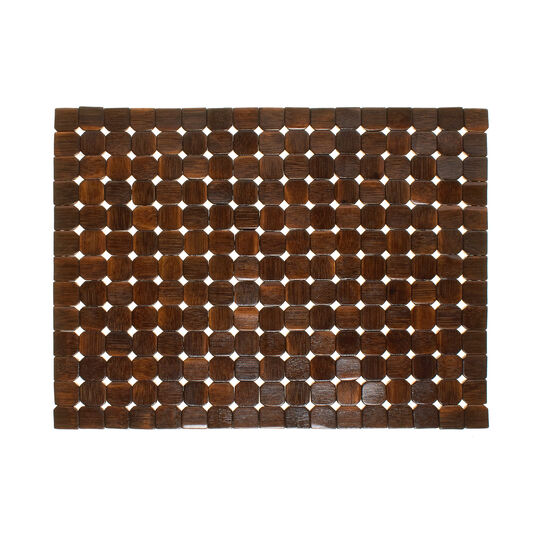 Varnished bamboo table mat