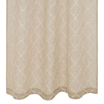 100% linen curtain with Moroccan embroidery