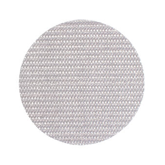 Round woven paper fabric table mat