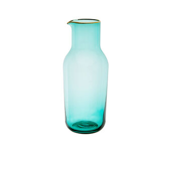 Glass carafe with gold line