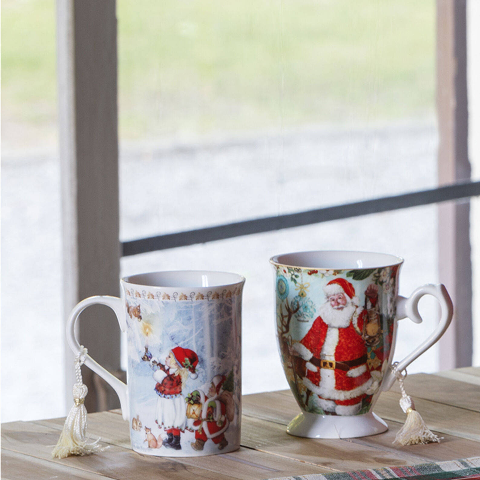 Mug porcellana decoro bimba vintage