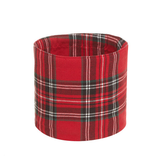 100% cotton tartan basket