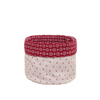 100% cotton basket with small flowers print