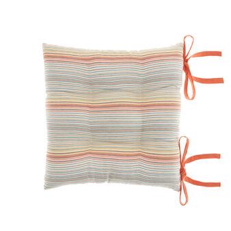 100% cotton striped seat pad